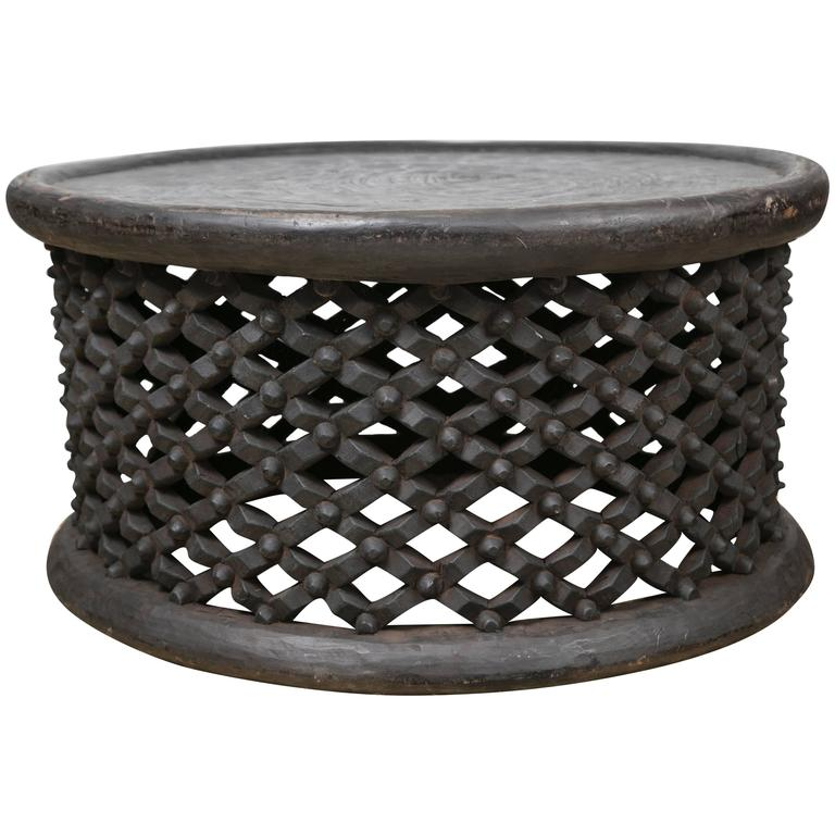 Hand-Carved African Cameroon Cocktail Table, Large At 1stdibs