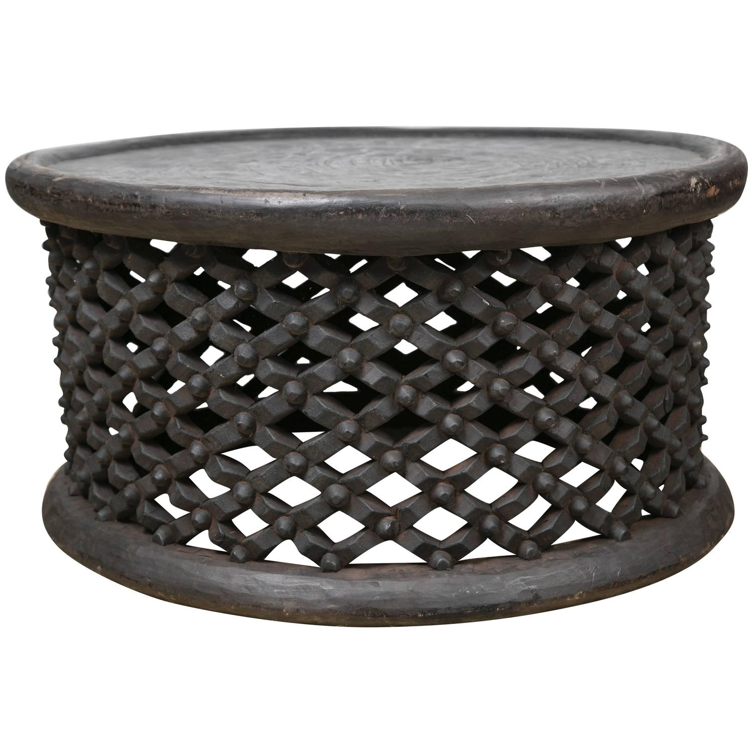 Hand Carved African Cameroon Cocktail Table Large For Sale At 1stdibs