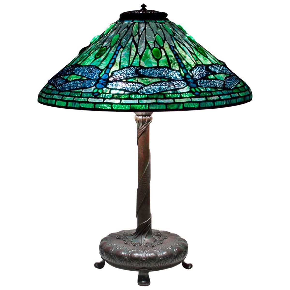Tiffany studios 39 dragonfly 39 table lamp at 1stdibs - Chandelier desk lamp ...