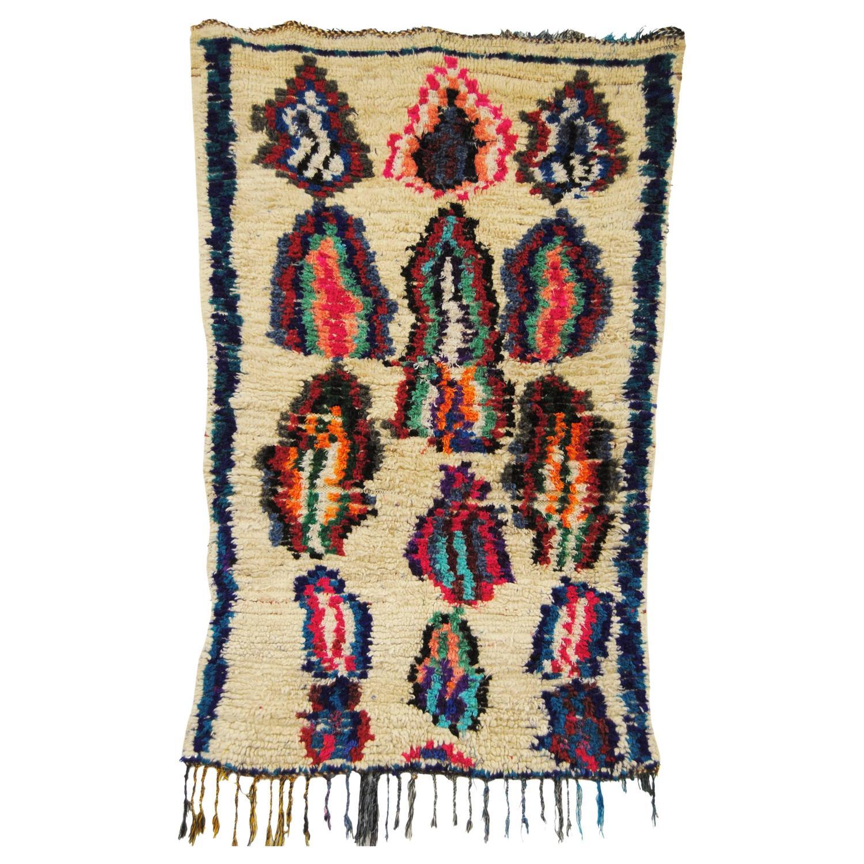 Vintage Hand-Loomed Wool Azilal Moroccan Rug, Atlas