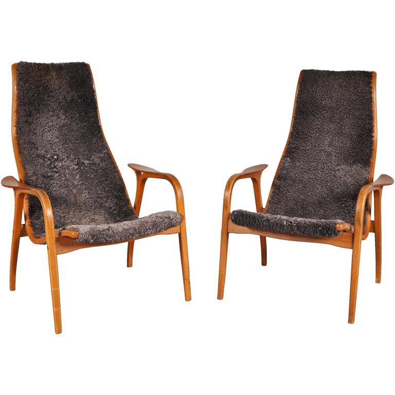 "Pair of Yngve Ekstrom""Lamino"" Easy Chairs for Swedese, circa 1960 For Sale at 1stdibs"