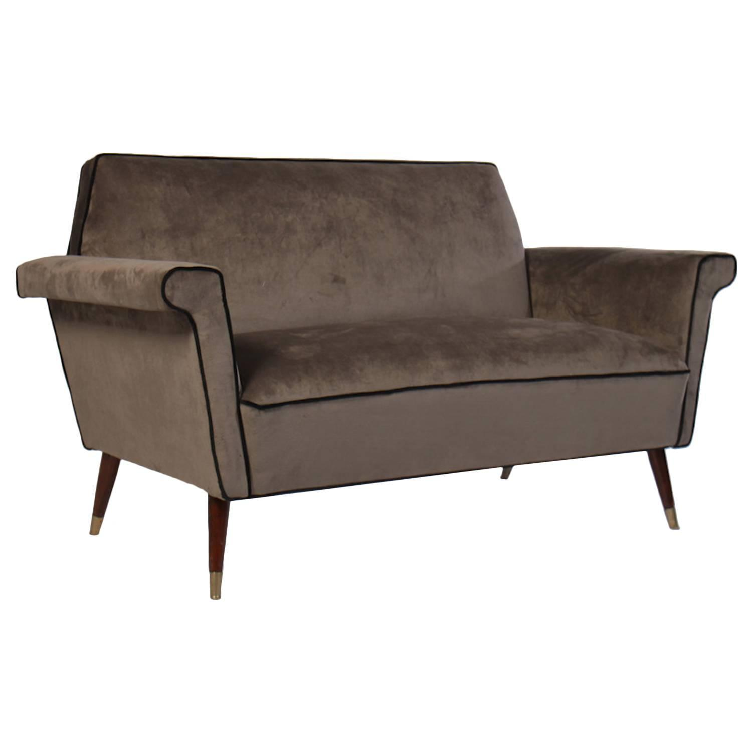 Italian mid century modern upholstered sofa 1960 for sale for Modern sofas for sale