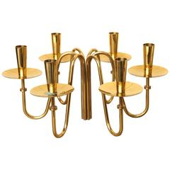 Pair of Brass Candle Holders by Tommi Parzinger, circa 1960