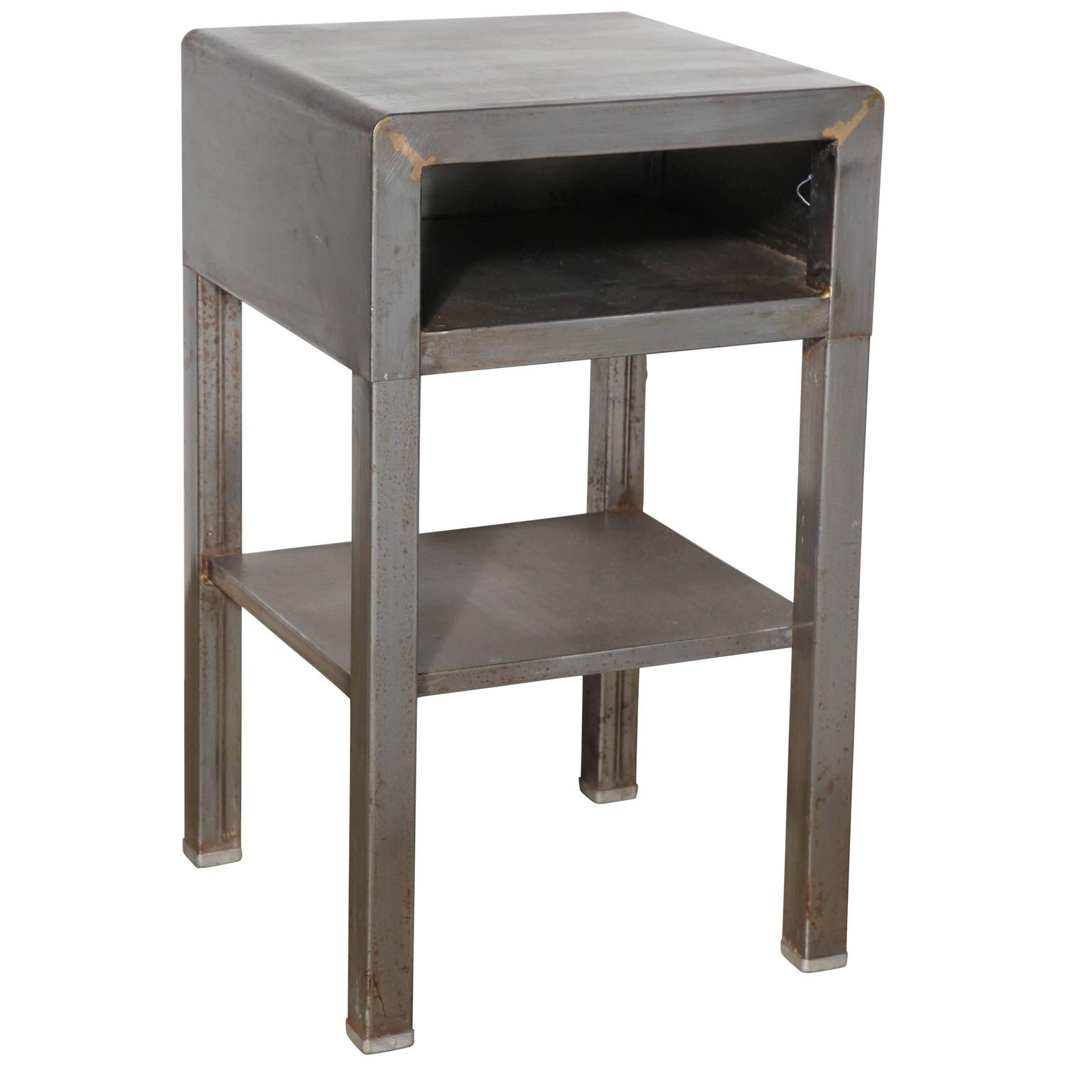 simmons modern furniture metal side table 2. 1930u0027s industrial norman bel geddes for simmons single nightstand at 1stdibs modern furniture metal side table 2 o