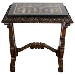 19th Century Specimen Marble Table
