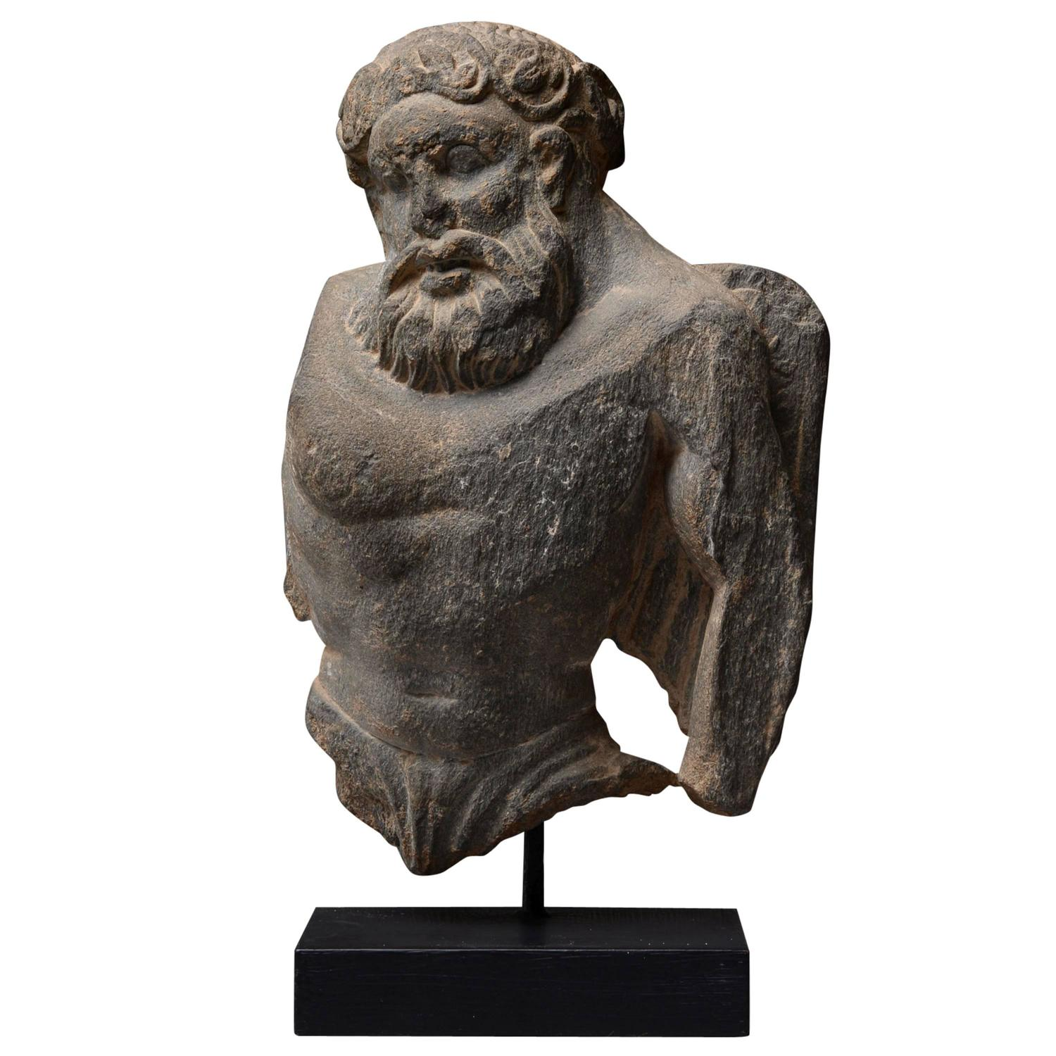 Ancient gandharan stone sculpture of atlas ad at stdibs
