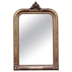 19th Century, French Gold Gilded Mirror