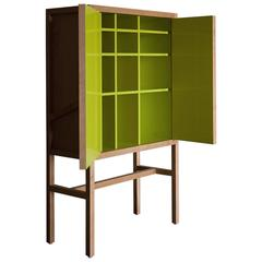 Inside-Out Credenza Lungo, Fine Cupboard Lacquer Finish. Liquor Buffet
