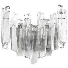 1960s Large Kalmar Ice Glass Sconce, 1960s