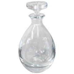 Glass Decanter by Strömbergshyttan Sweden, circa 1950s