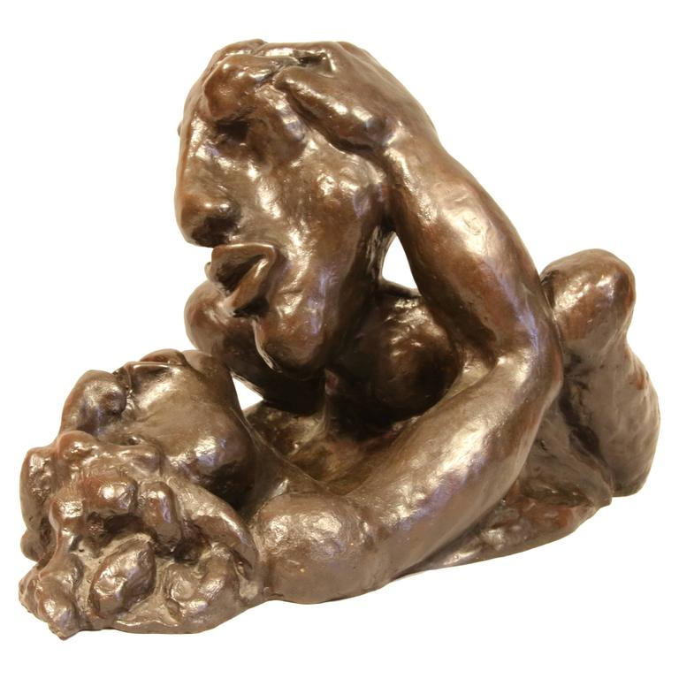 "Bronze Sculpture ""LOVE"" by the Artist Jacques Tenenhaus"
