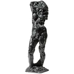 """Bronze Sculpture """"La Chemise Enlevée"""" by the Artist Edmond Moirignot"""