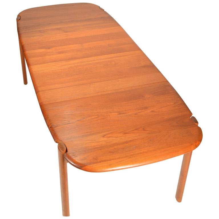 Solid Teak Danish Modern Dining Table with Two Extension  : 3523012l from www.1stdibs.com size 768 x 768 jpeg 33kB