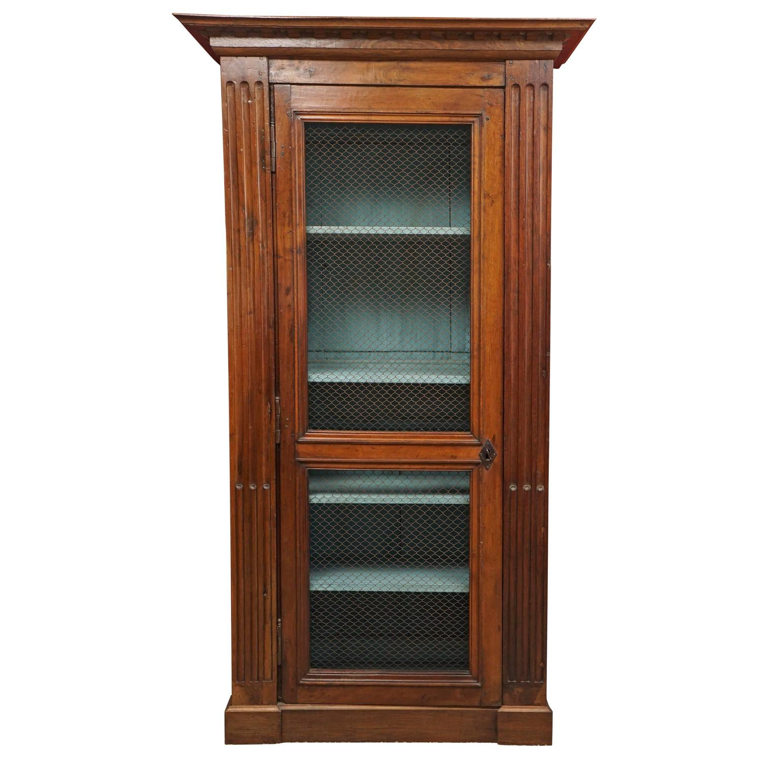 french bibliotheque bookcase with mesh door mid 19th. Black Bedroom Furniture Sets. Home Design Ideas