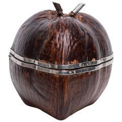 Ice Bucket Coconut with Silver Border