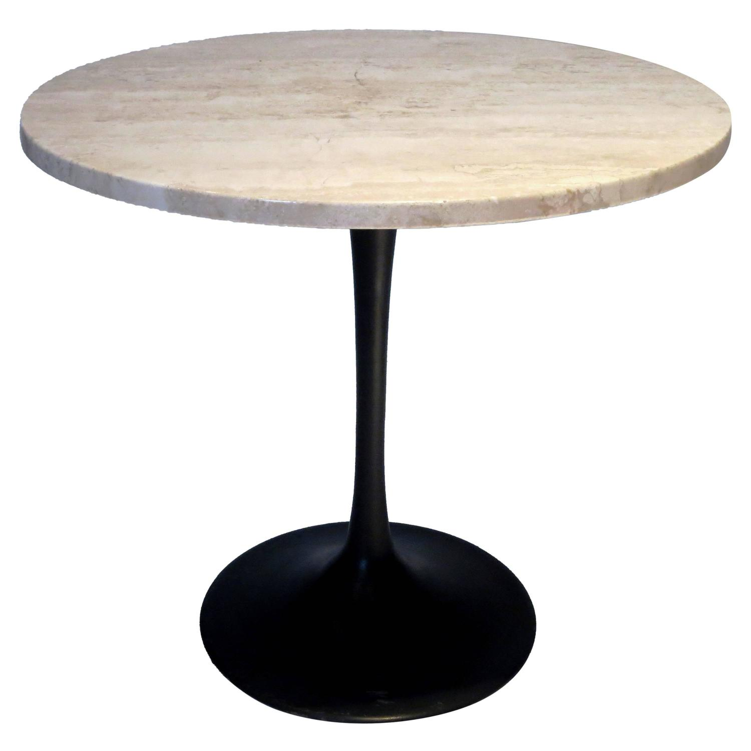 1970s Marble And Black Enameled Metal Base Oval Cocktail Table At 1stdibs