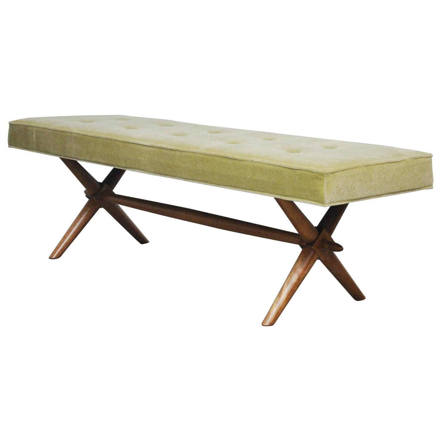 T H Robsjohn Gibbings X Base Bench At 1stdibs