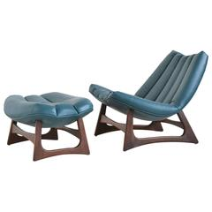 Adrian Pearsall Rare Lounge Chair and Ottoman