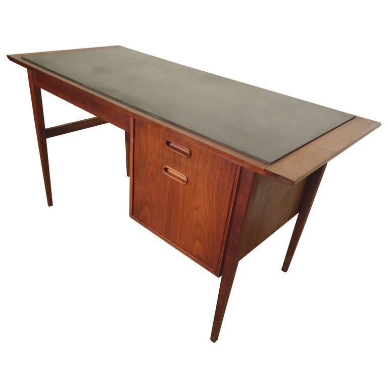 Danish Slate Top Desk For
