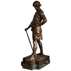 Large Superb 19th Century French Bronze by Emile Louis Picault