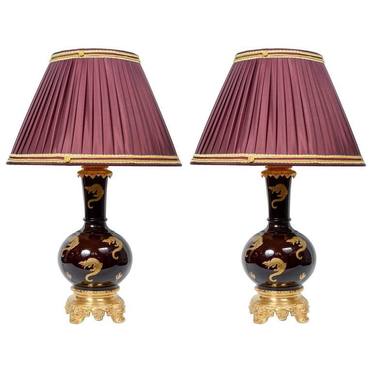 Pair of Sèvres Tables Lamps