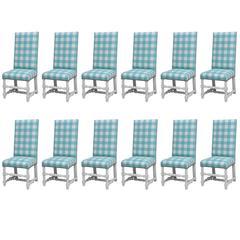 Set of 12 'Diamond & Baratta' Louis XIII Style Chairs