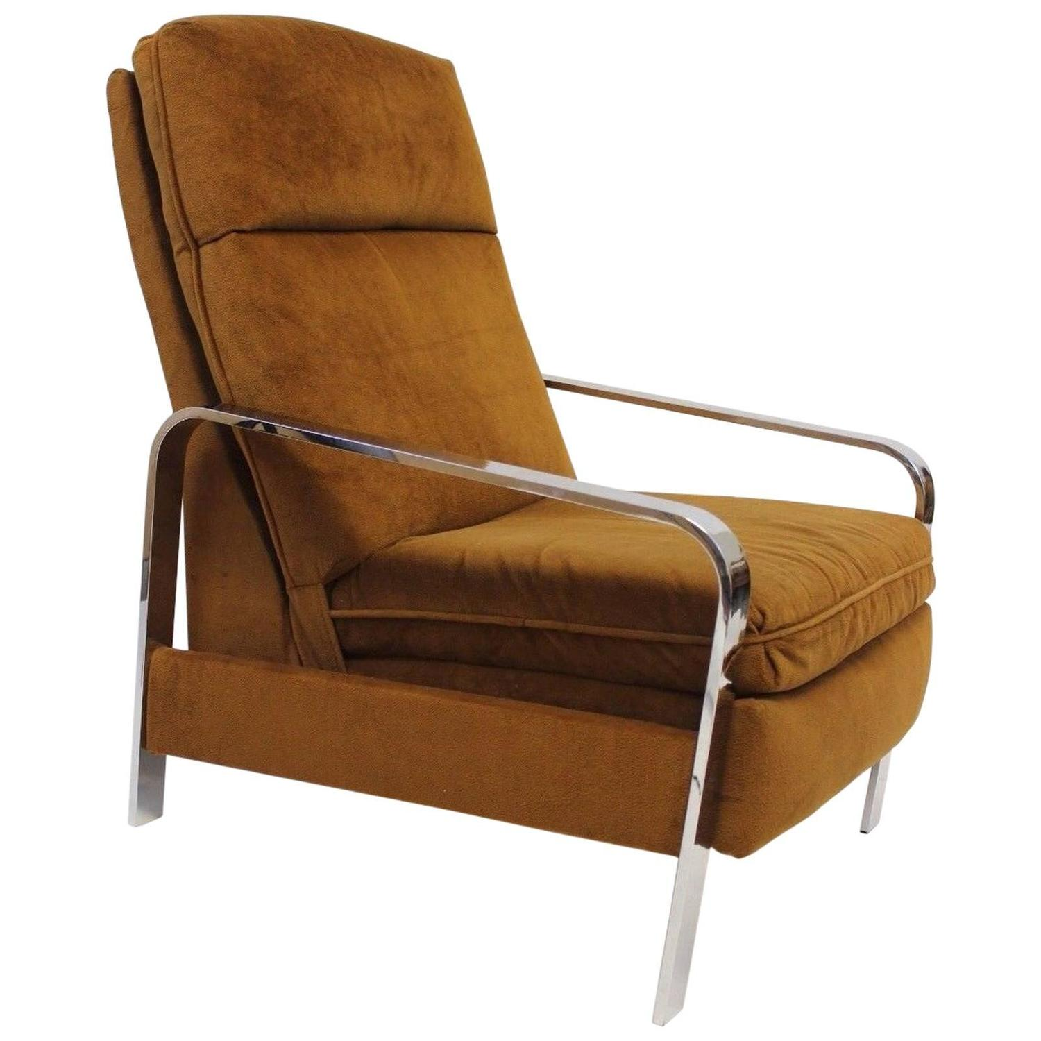 Milo Baughman Reclining Lounge Chair for Design Institute of America at 1stdibs