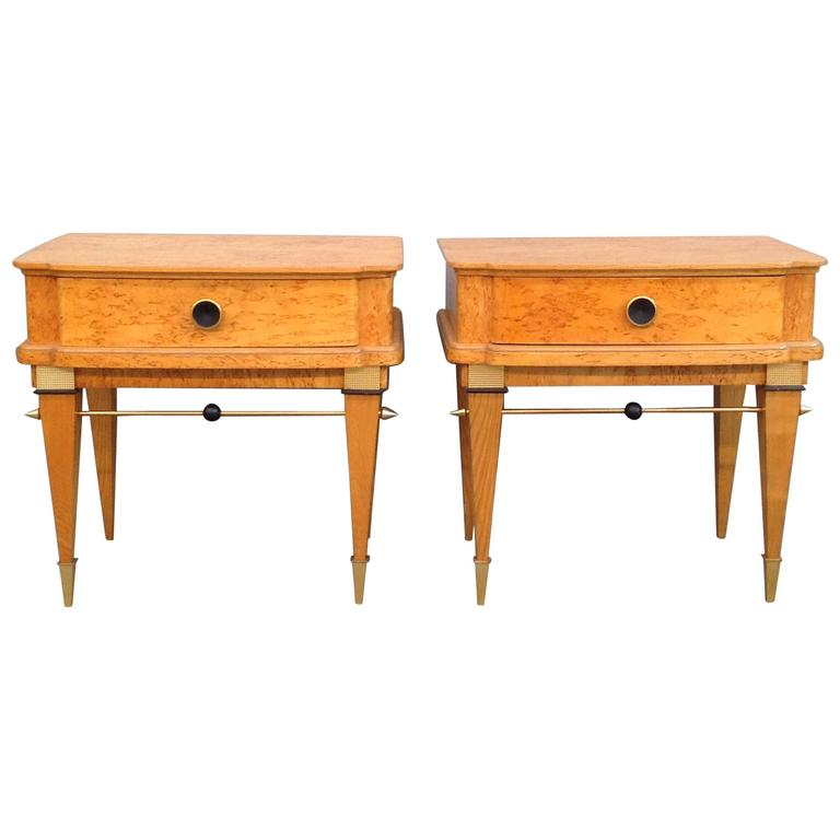nice pair of bedside maison jansen style for sale at 1stdibs