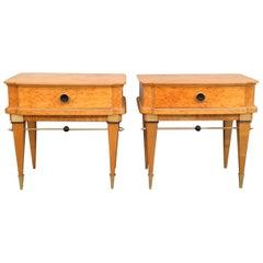 Nice pair of bedside Maison Jansen style