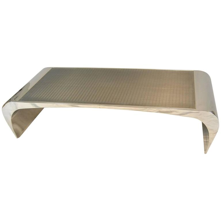 Brueton Selina K Stainless Steel Cocktail Table or Bench