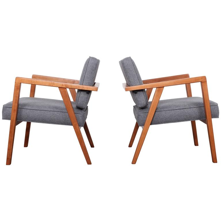 Pair of Lounge Chairs by Franco Albini