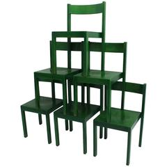 Carl Auböck Set of Six Dining Chairs Vienna 1956