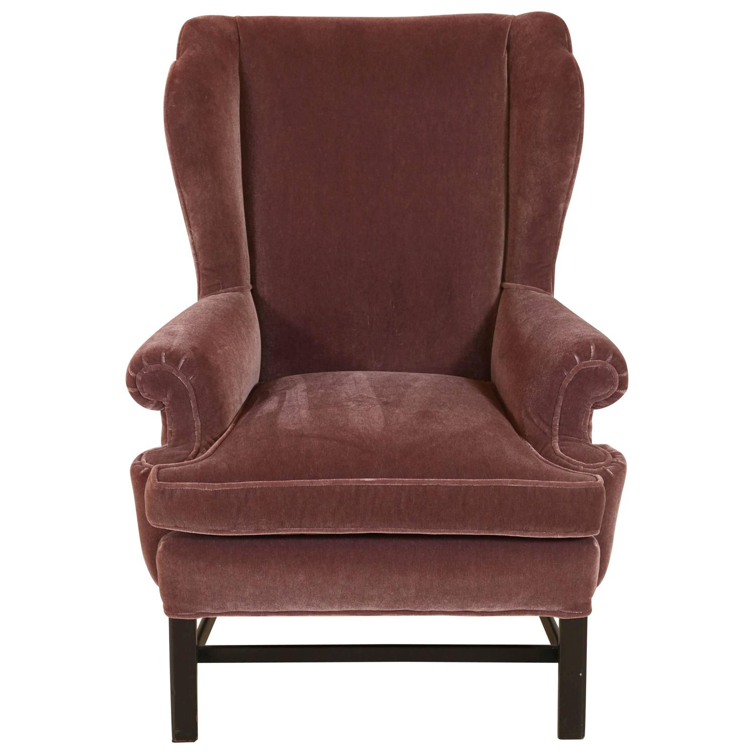French Style Mohair Club Chair For Sale At 1stdibs