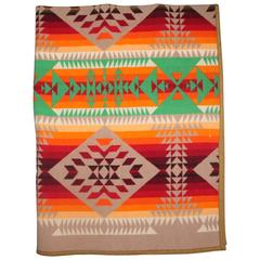 Early Pendleton Cayuse Dated 1909 Indian Design Camp Blanket