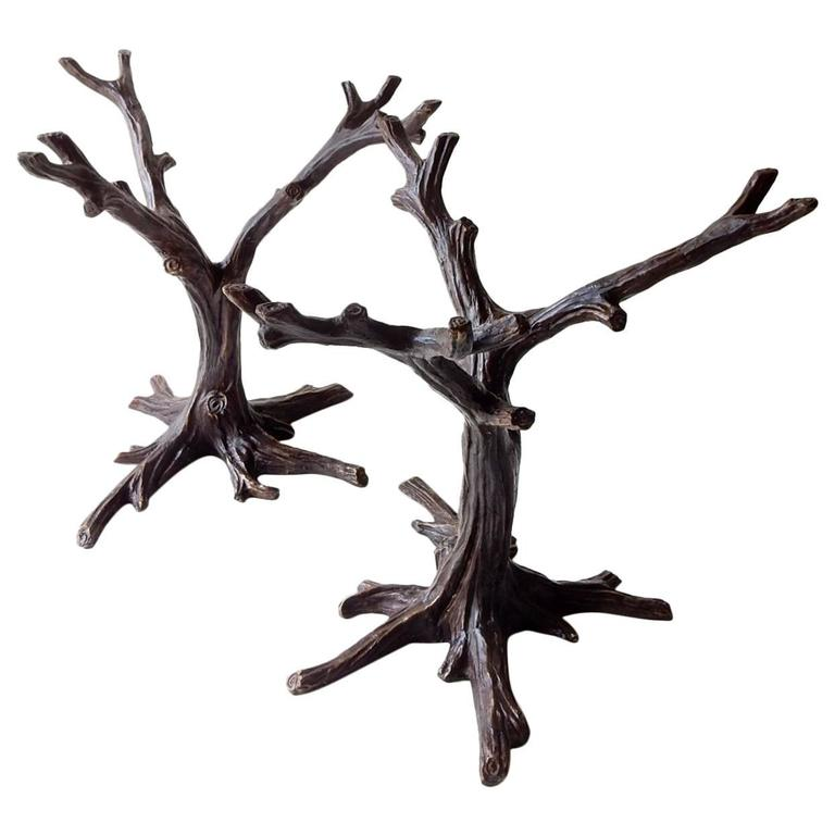 Mid 20th Century French Bronze Tree Sculpture Dining Table Base By J A Mercie For