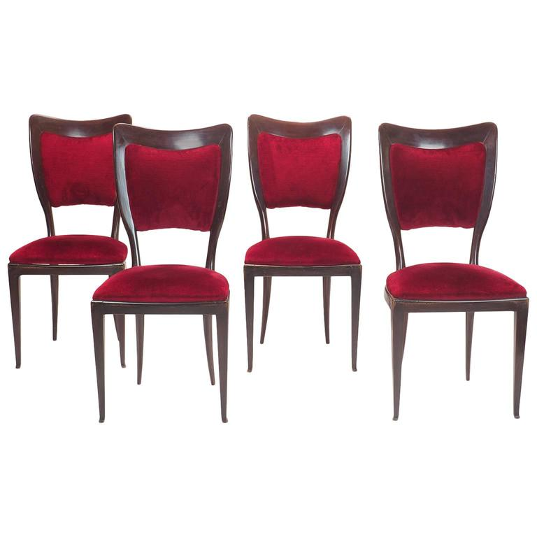 Private Dining Room Set: Paolo Buffa, Set Of Dining Chairs, Provenance Private