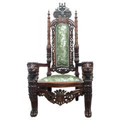 20th Monumental Throne Chair