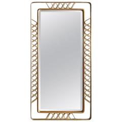 Rare wall mirror by Gio Ponti, expertised Gio Ponti Archives