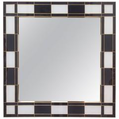 Black and White Glass Mirror, Mirrored