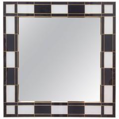 Black and White Glass Mirror, Mirrored