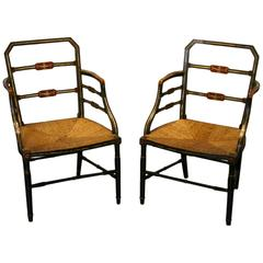Pair of Regency Painted Armchairs