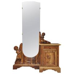 19th Century Venetian Putti Dressing Table and Mirror