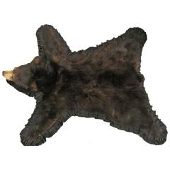 1960s Taxidermy Mounted Backed Brown Bear Skin Rug