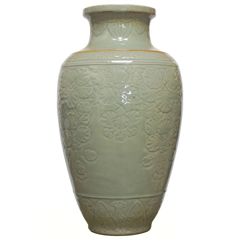Chinese Longquan Style Celadon Vase For Sale At 1stdibs