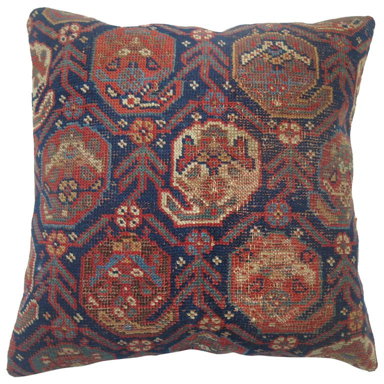Tribal Persian Rug Pillow For Sale at 1stdibs