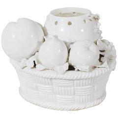 18th Century French Porcelain St. Cloud White Porcelain Potpourri Jar