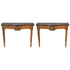Pair of Late 18th Century French Console Tables