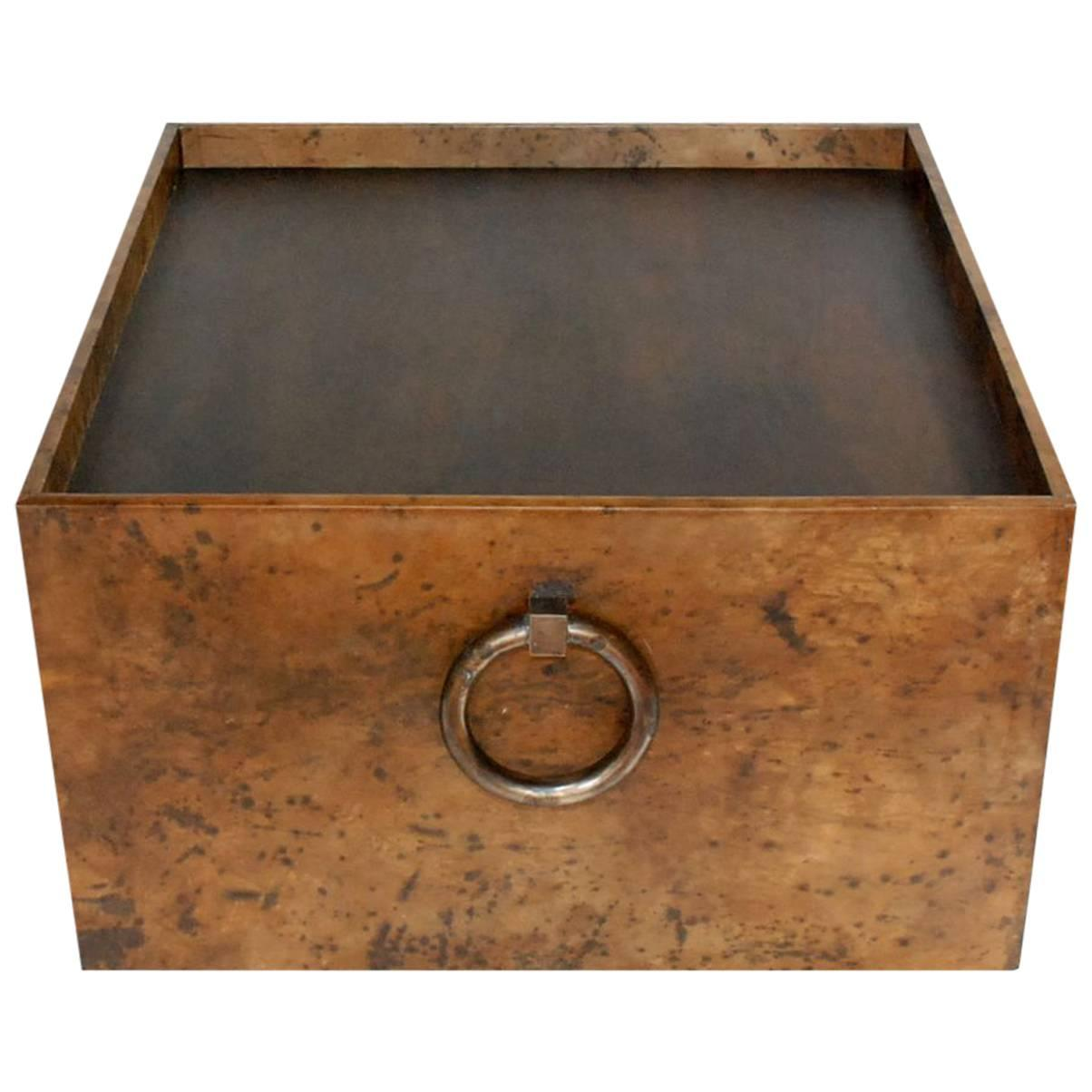 Square Parchment Coffee Table