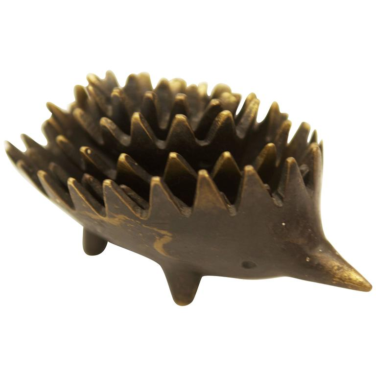 Hedgehog Sculpture by Walter Bosse for Hertha Baller