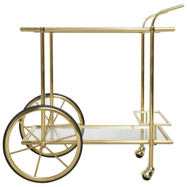 a french fine quality polished brass bar cart trolley at. Black Bedroom Furniture Sets. Home Design Ideas